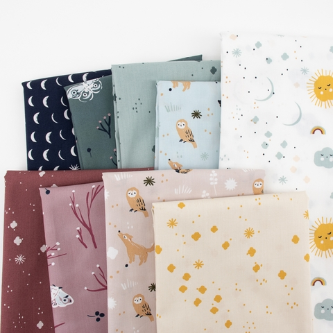 Jenny Ronen for Birch Organic Fabrics, Dreamer, Lullaby Wood Rose