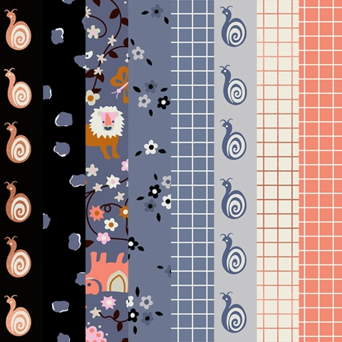PREORDER NOW, Kimberly Kight for Ruby Star Society, Liana, Denim in FAT QUARTERS 8 Total