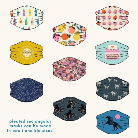 PREORDER NOW, Ruby Star Society, Cotton Face Mask  Panel (NOVEMBER)