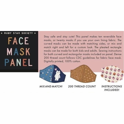 """Ruby Star Society, 1st Version Cotton Face Mask (36"""" Panel)"""