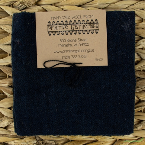 "Primitive Gatherings, Wool 5"" Charm Pack, Navy"