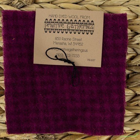 "Primitive Gatherings, Wool 5"" Charm Pack, Red Grape"