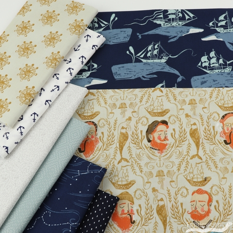 Rae Ritchie for Dear Stella, Aweigh North, Sailor Toile Sand