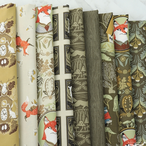 Rae Ritchie for Dear Stella, Black Forest, Fancy Animals Toffee