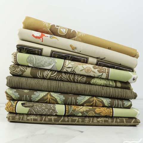 Rae Ritchie for Dear Stella, Black Forest, Gnomes and Foxes Wheat