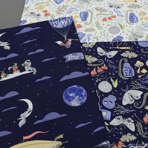 Rae Ritchie for Dear Stella, Love You to the Moon in FAT QUARTERS 5 Total