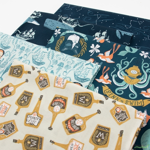 Rae Ritchie for Dear Stella, Sink or Swim, Sailor's Delight in HALF YARDS 5 Total