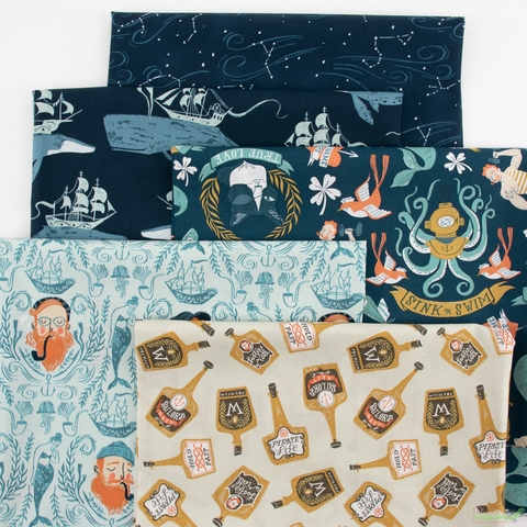 Rae Ritchie for Dear Stella, Sink or Swim, Sailor Toile Skylight