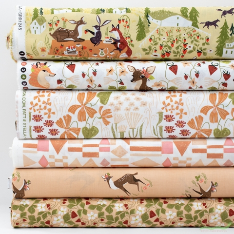 Rae Ritchie for Dear Stella, Strawberry Fields in FAT QUARTERS 6 Total
