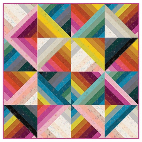 Rashida Coleman-Hale for Ruby Star Society, Sewing Project Pattern, Jelly Rainbow Quilt