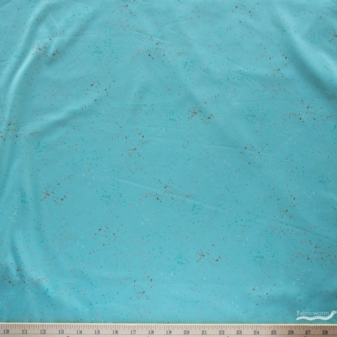 """Rashida Coleman-Hale for Ruby Star Society, Speckled 108"""" Wide, Turquoise Metallic"""