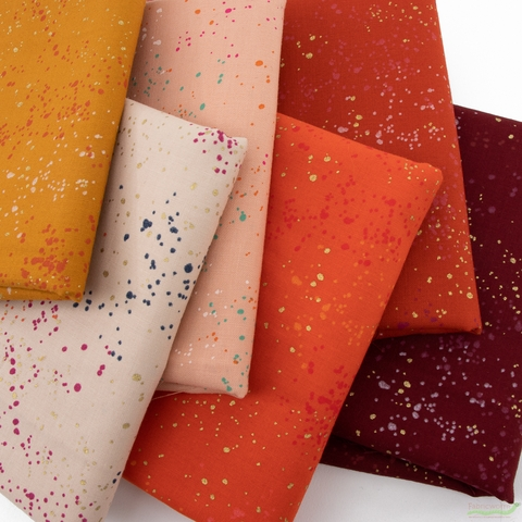 Rashida Coleman-Hale for Ruby Star Society, Speckled Metallic, Autumn Spice in FAT QUARTERS 6 Total