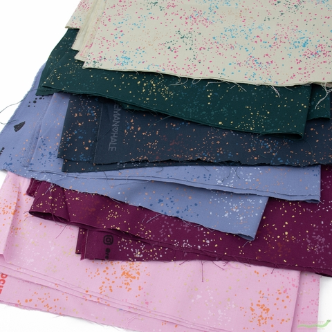 Rashida Coleman-Hale for Ruby Star Society, Speckled Metallic, Bundled Up in FAT QUARTERS 6 Total