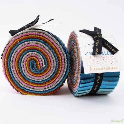 Rashida Coleman-Hale for Ruby Star Society, Speckled Metallic Jelly Roll 40 Strips Total