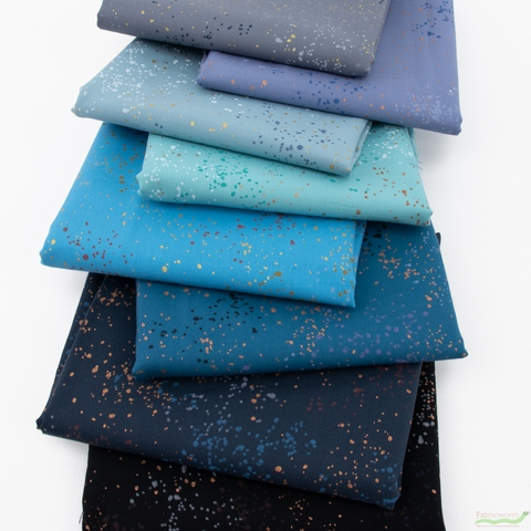 Rashida Coleman-Hale for Ruby Star Society, Speckled Metallic, Rough Waters in FAT QUARTERS 8 Total