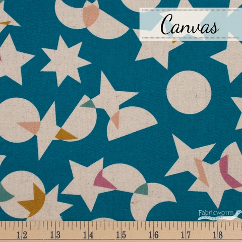 Rashida Colman-Hale for Ruby Star Society, Stellar Canvas, Space Junk Teal