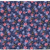 Rifle Paper Co. for Cotton and Steel, Les Fleurs, Rosa Navy