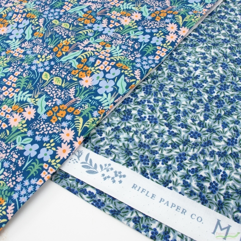 Rifle Paper Co. for Cotton and Steel, Meadow, Blueberries Blue