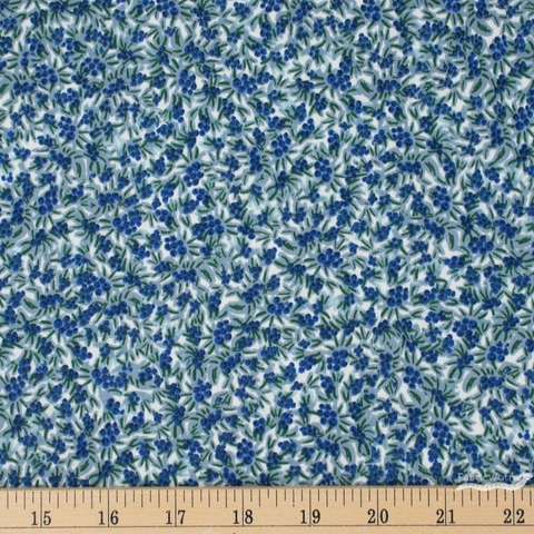 Rifle Paper Co. for Cotton and Steel, Meadow, Blueberries Blue Fat Quarter