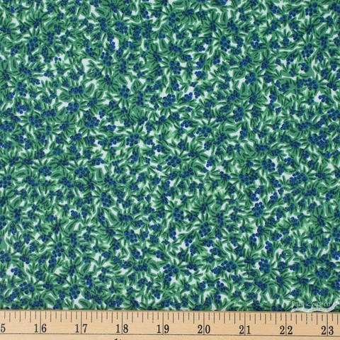 Rifle Paper Co. for Cotton and Steel, Meadow, Blueberries Green