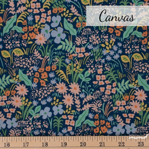 Rifle Paper Co. for Cotton and Steel, Meadow Canvas, Meadow Blue