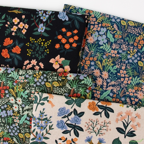 Rifle Paper Co. for Cotton and Steel, Meadow Canvas, Wildflower Field Natural