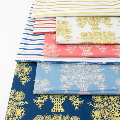 Rifle Paper Co. for Cotton and Steel, Meadow, Centerpiece in FAT QUARTERS 7 Total