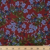 Rifle Paper Co. for Cotton and Steel, Meadow, Cornflower Burgundy