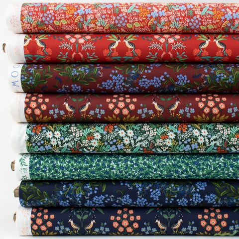 Rifle Paper Co. for Cotton and Steel, Meadow, Garden Nightfall in FAT QUARTERS 8 Total (PRECUT)