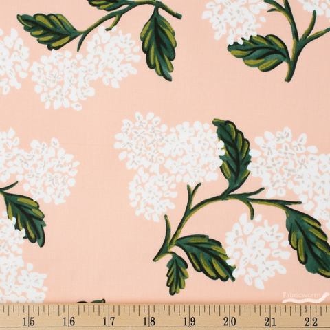 Rifle Paper Co. for Cotton and Steel, Meadow, Hydrangea Blush