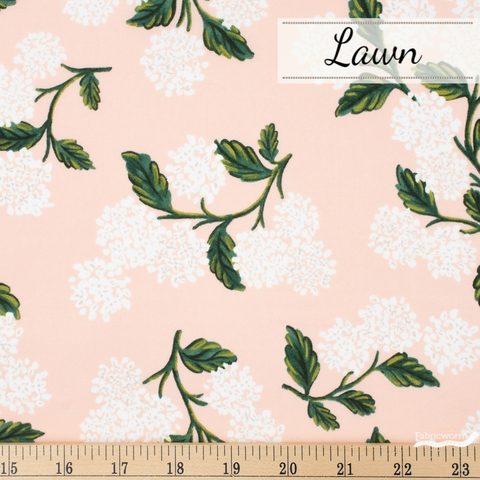 Rifle Paper Co. for Cotton and Steel, Meadow Lawn, Hydrangea Blush