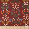 Rifle Paper Co. for Cotton and Steel, Meadow, Luxembourg Burgundy Fat Quarter