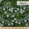 Rifle Paper Co. for Cotton and Steel, Meadow Rayon, Cornflower Hunter