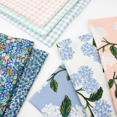 Rifle Paper Co. for Cotton and Steel, Meadow, Spring Gathering in HALF YARDS 8 Total