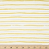 Rifle Paper Co. for Cotton and Steel, Meadow, Stripes Gold Metallic