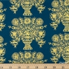 Rifle Paper Co. for Cotton and Steel, Meadow, Vase Block Print Navy Metallic Fat Quarter