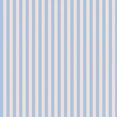 Rifle Paper Co. for Cotton and Steel, Primavera, Cabana Stripe Periwinkle