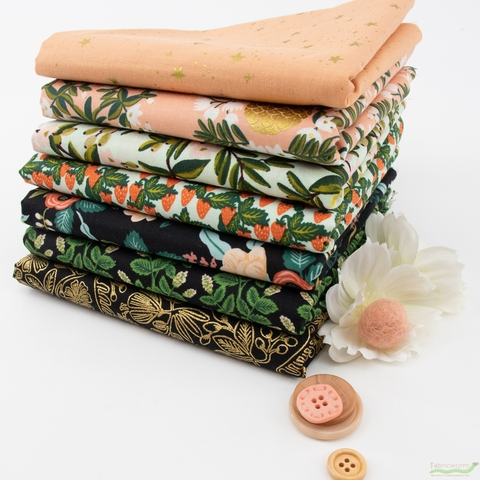 Rifle Paper Co. for Cotton and Steel, Primavera, Citrus Dream in HALF YARDS 7 Total