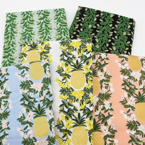 Rifle Paper Co. for Cotton and Steel, Primavera, Climbing Vines Mint