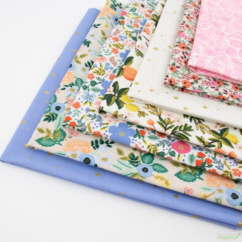 Rifle Paper Co. for Cotton and Steel, Primavera, Light Bouquet in HALF YARDS 7 Total