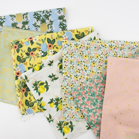 Rifle Paper Co. for Cotton and Steel, Primavera, Moxie Floral Mint Metallic