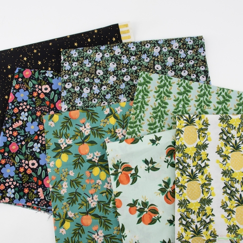 Rifle Paper Co. for Cotton and Steel, Primavera, Rosa Black
