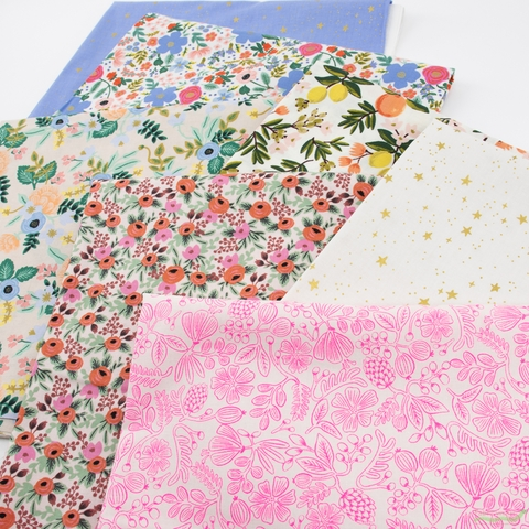 Rifle Paper Co. for Cotton and Steel, Primavera, Rosa Blush