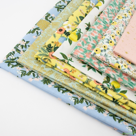 Rifle Paper Co. for Cotton and Steel, Primavera, Scent of Spring in HALF YARDS 7 Total