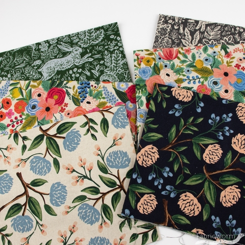 Rifle Paper Co. for Cotton and Steel, Wildwood, CANVAS, Fable Leaf