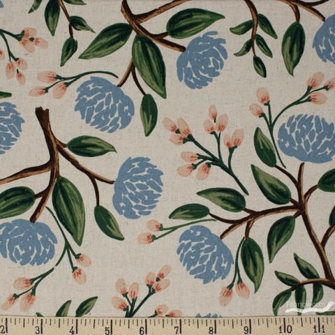 Rifle Paper Co. for Cotton and Steel, Wildwood, CANVAS, Peonies Cream