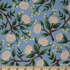 Rifle Paper Co. for Cotton and Steel, Wildwood, Peonies Dusty Blue
