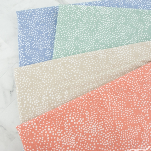 Rifle Paper Co. for Cotton + Steel, Basics, Menagerie Champagne Periwinkle