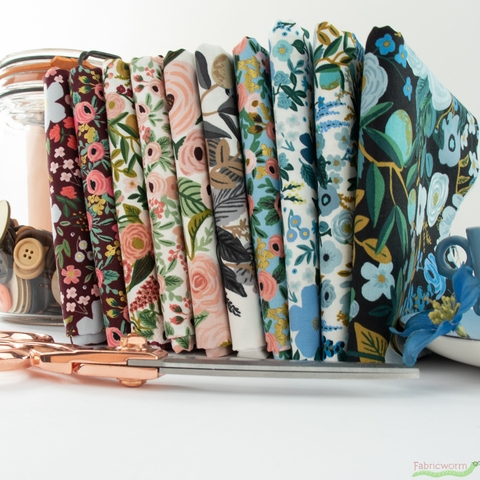 Rifle Paper Co. for Cotton + Steel, Garden Party Collection Bundle 10 Total