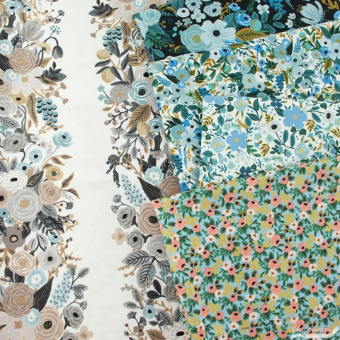 Rifle Paper Co. for Cotton + Steel, Garden Party, Garden Party Vines Linen Multi